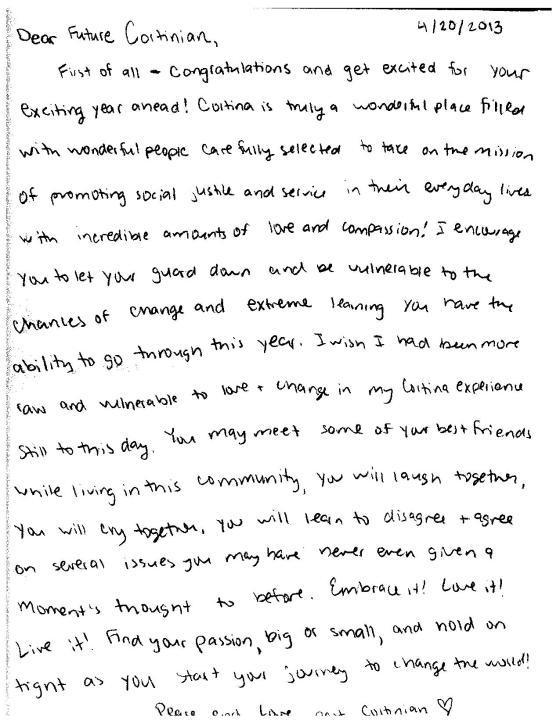 Letters to a Future Young Cortinian #7