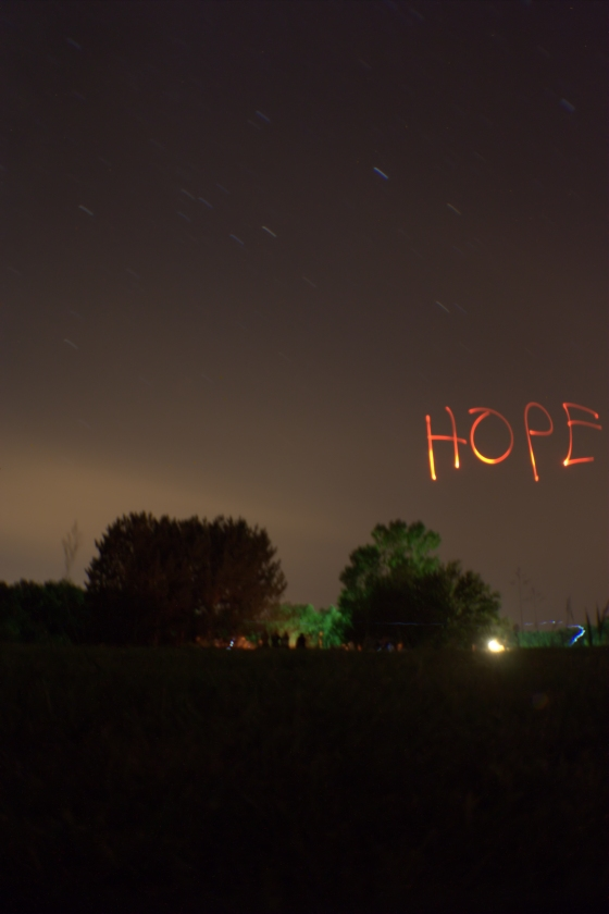 Hope Written on Darkness