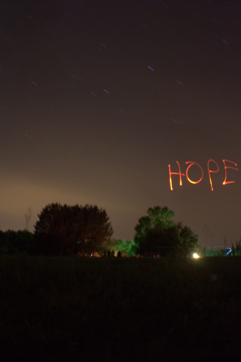 Hope Written on Darkness